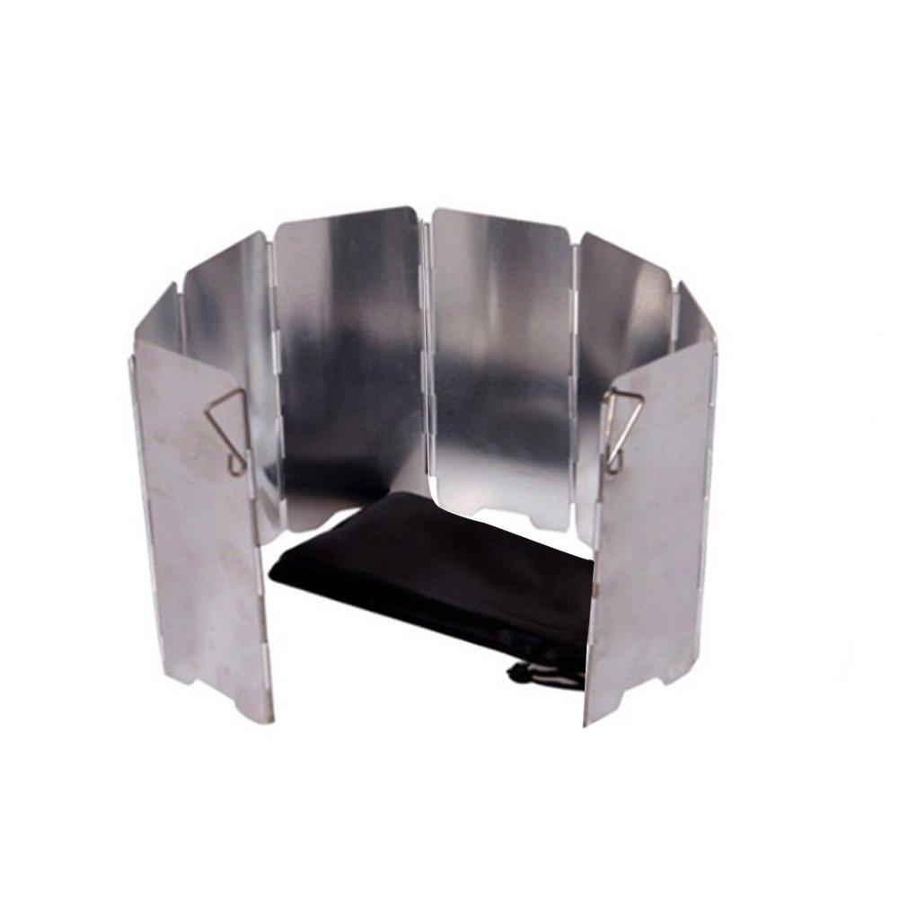 Symboat 8//9//10 Pcs Plaques Pliable Camping en Plein Air Cuisini/ère Pare-Vent Gaz Cuisini/ère Pare-Brise Outils