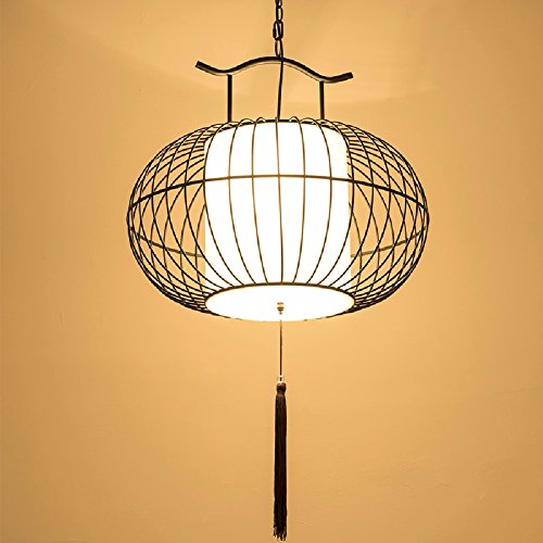 HQLCX Chandelier Chinese Iron Bird Cage Lamp Living Room Study Restaurant Decoration Iron Chandelier by HQLCX-Chandeliers
