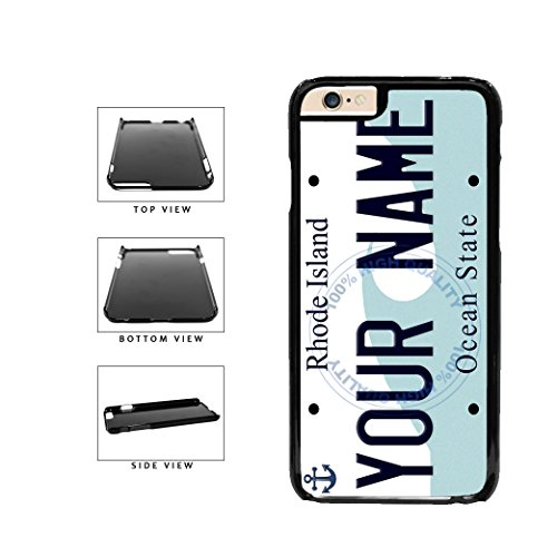 BleuReign(TM) Personalized Custom Name Rhode Island State License Plate Plastic Phone Case Back Cover For Apple iPhone 6 Plus and iPhone 6s Plus (5.5 Inches Screen)