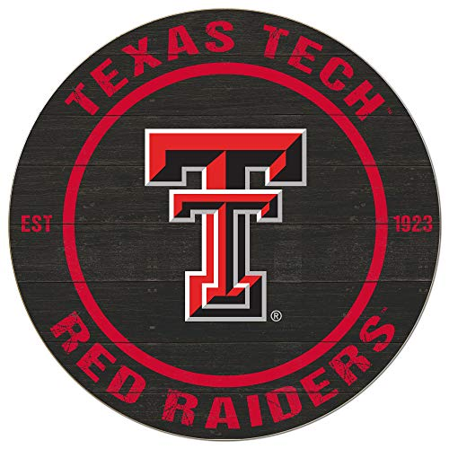 (KH Sports Fan 20x20 Weathered Colored Circle - Classic Texas Tech Red Raiders)