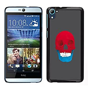 Stuss Case / Funda Carcasa protectora - Red & Blue Skull - Pop Art - HTC Desire D826