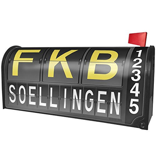 Neonblond Fkb Airport Code For Soellingen Magnetic Mailbox Cover Custom Numbers
