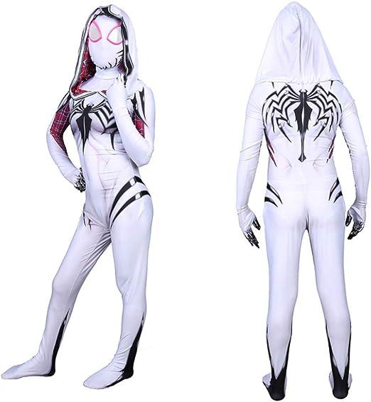 ERTSDFXA Gwen Venom Spiderman Disfraces Niños Adulto Disfraz De ...