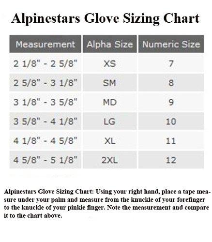 Alpinestars Size Chart Uk