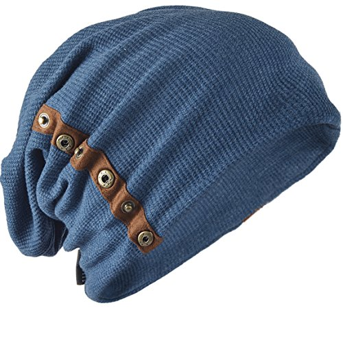 Z&S Chic Mens Slouchy Loose Beanie Cotton Skull Cap Winter Hat B020 ()