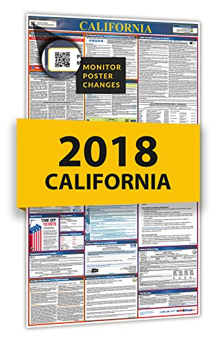 2018 California Spanish Labor Law Poster for Workplace