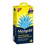 Marigold Nitrile Multi-Purpose Disposable Gloves, Medium/Large, Pack of 40-Blue
