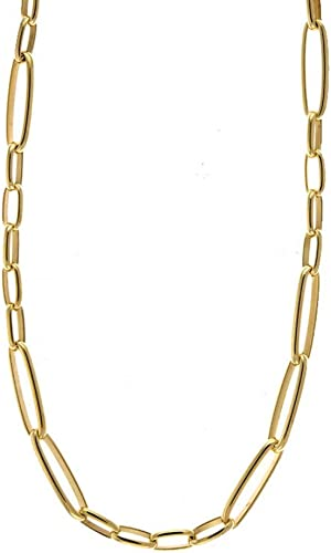 Sterling Silver Polished 1.5 mm Elongated Open Oval Link Chain Necklace