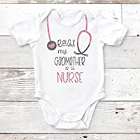 Relax My Godmother is a Nurse Custom baby Bodysuit, Toddler T Shirt, Baby Shower Gift