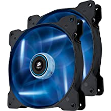 Corsair Air Series SP 140 Led Blue High Static Pressure Fan Cooling-Twin Pack (Co-9050036-WW)