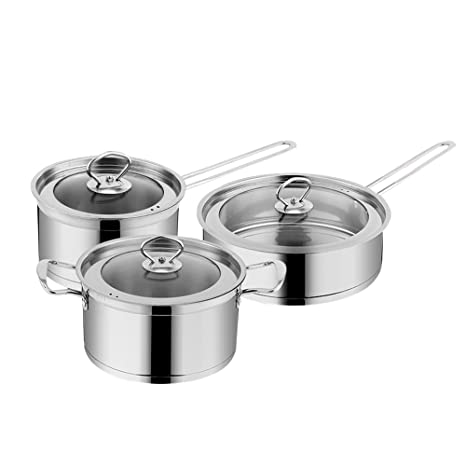 Amazon.com: hukoer sartenes ollas de cocción 3 pieza ...
