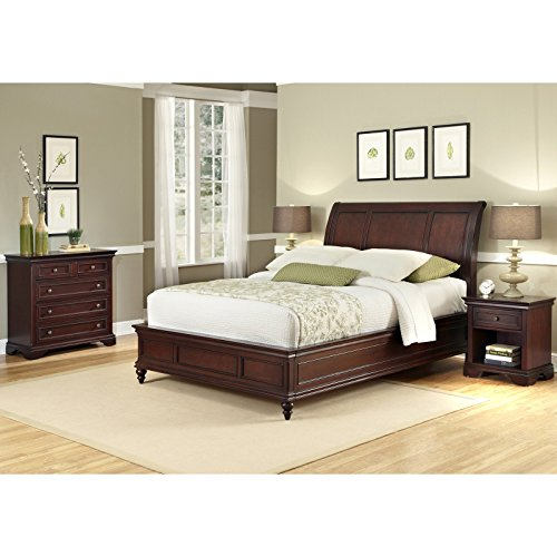 Lafayette Cherry King/California King Sleigh Headboard by Home Styles California King Cherry Footboard