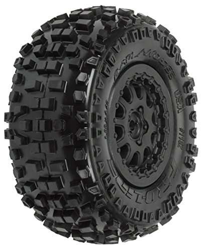 ProLine 118215 Badlands SC 2.2/3.0 M2 Tires MTD On Protrac Suspension Kit Renegade Black ()