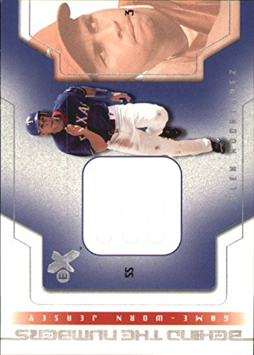 (2002 E-X Behind the Numbers Game Jersey #20 Alex Rodriguez Jersey -)