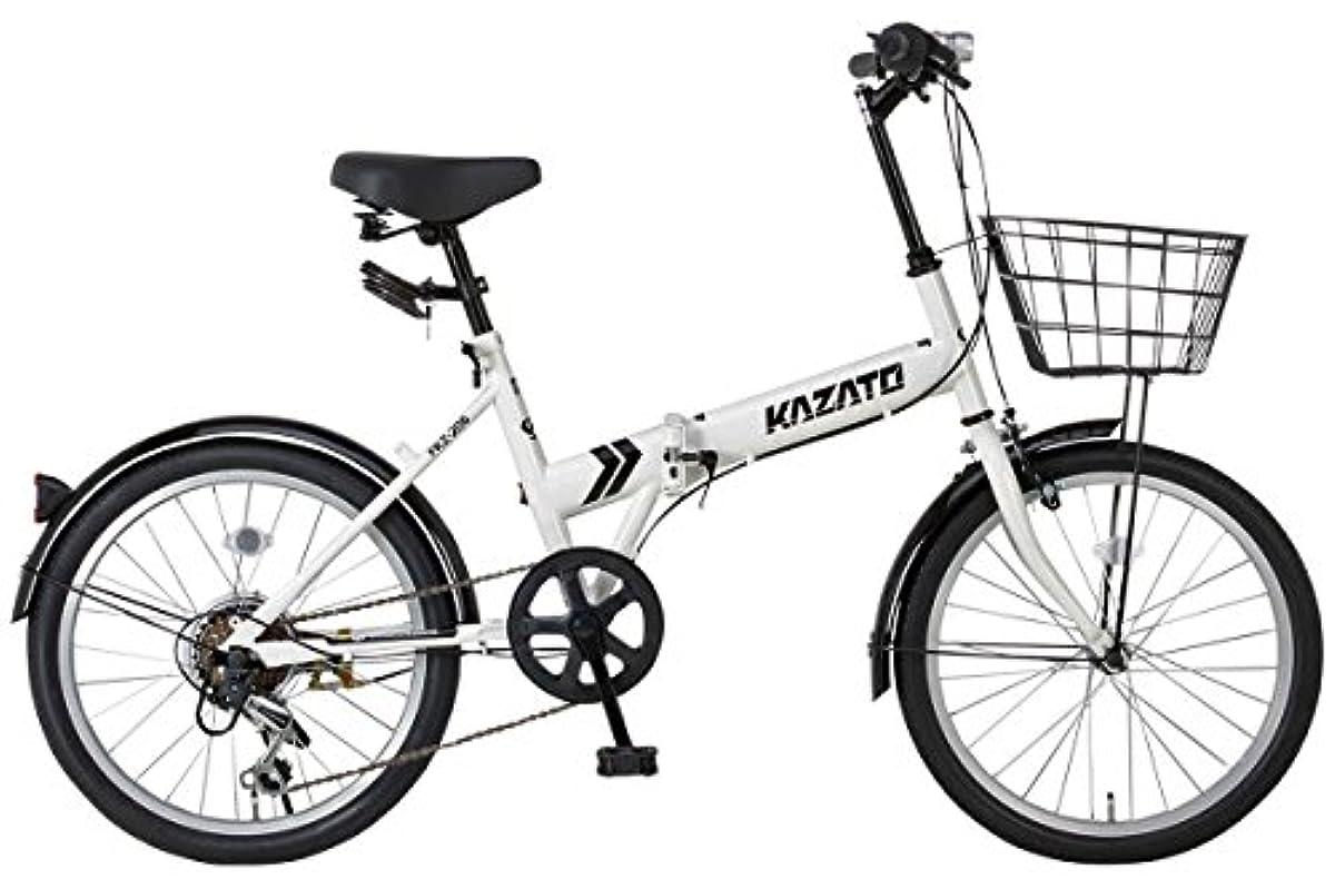 [해외] 【조립 필요 상품】【바구니・프론트 라이트・와이어정SET】KAZATO(카 더도)FKZ-206 접는 자전거 접이식 접이식 자전거 20인치 시마노제6 단변속 전후 팬더