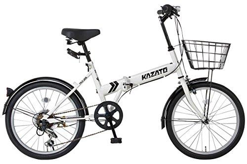 [해외] [바구니・프론트 라이트・와이어정SET]KAZATO(카 더도)FKZ-206 접는 자전거 접이식 접이식 자전거 20인치 시마노제6 단변속 전후 팬더