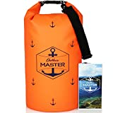 Dry Bag - 20L Floating Waterproof Bag for Boating, Kayaking, Sailing, Rafting, Stand Up Paddling, Canoeing, Camping by Outdoors MASTER (Orange)