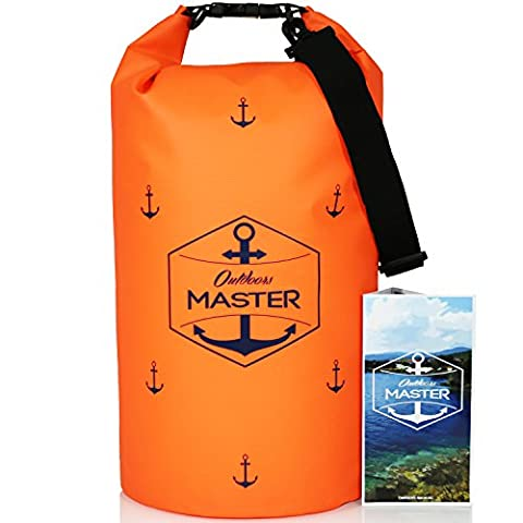 Outdoors MASTER Dry Bag - Floating Waterproof Bag for Boating, Sailing, Kayaking, Stand Up Paddle Boarding (Electric Orange, - Boating and Sailing