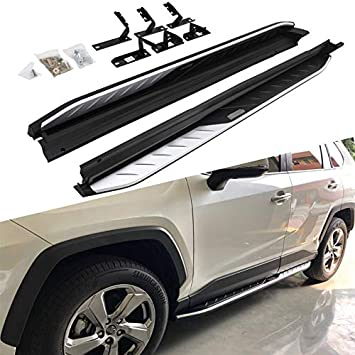 "2pcs Running Boards TAC Side Steps Running Boards Fit 2019-2020 Toyota Rav4 SUV 3/"" Stainless Steel Side Bars Nerf Bars Off Road Accessories"