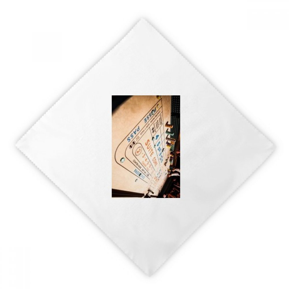 Chip Gambling Game Photo Dinner Napkins Lunch White Reusable Cloth 2pcs