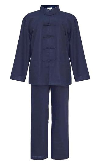 Hombre Tai chi uniforme artes marciale, ropa traje de Kung fu y Qi gong de algodón y lino
