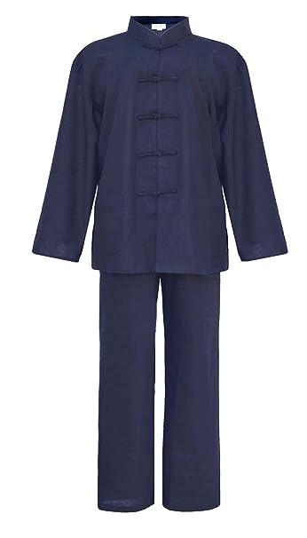 Hombre Tai chi uniforme artes marciale, ropa traje de Kung fu y Qi gong de