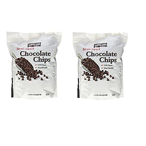 Kirkland Signature Semi-Sweet Chocolate Chips, 72 Ounce (Pack of 2, 144 oz(Each 72 oz))