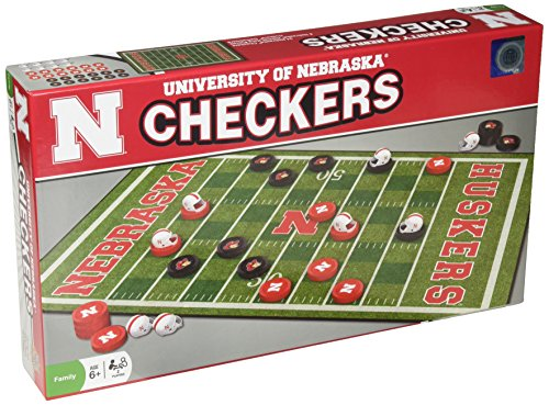 (MasterPieces NCAA Nebraska Checkers Board Game)