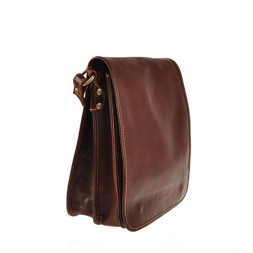 Pellevera Ravenne sac italienne messager de cuir. sac mortuaire croix (brun tan) ZTaIemR