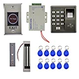 Dovewill Door Access Control System with 300LBS Magnetic Door Lock 5 RFID Keyfobs Fingerprint Controller