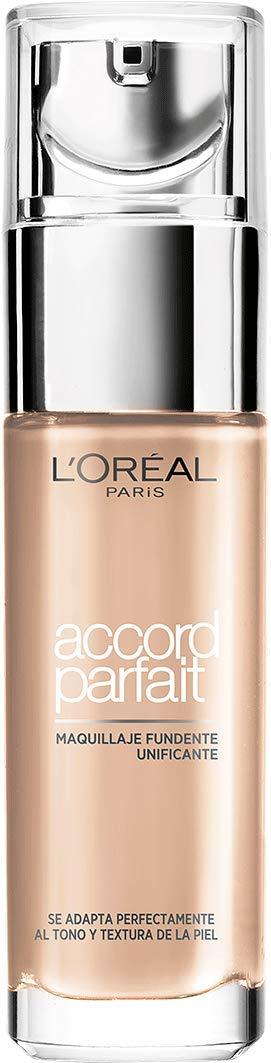 L'Oréal Paris Fondotinta Fluido Coprente Accord Parfait, Risultato Naturale, No Effetto Maschera, 4D/4W Natural Doré/Golden Natural A8194600