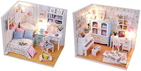 DIY Handcraft Miniature Wooden Doll House Model Project Kit 2#