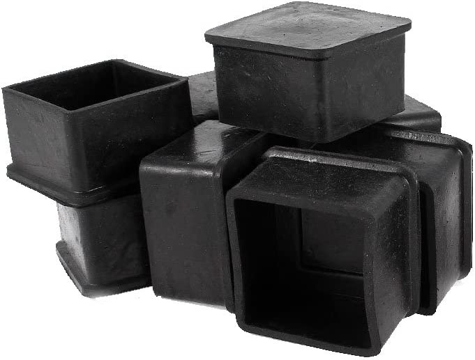 Flyshop Chair Leg Caps Furniture Table Covers Floor Protectors Rubber Silicone Square Legs 4 Pack,5050mm