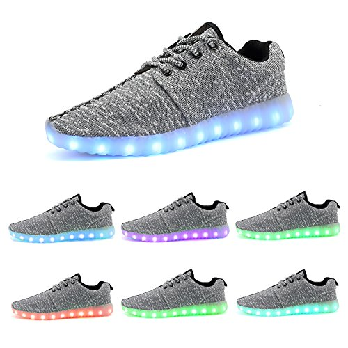 WAWEN Adult Light Up Shoes 11 model Flashing USB Recharging Sneakers for Men and Women