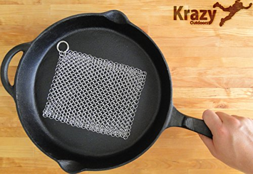 Stainless Steel Chainmail Scrubber Cookware product image