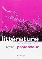 L'écume des lettres - Littérature 2de / 1re - Livre du professeur - Edition 2011