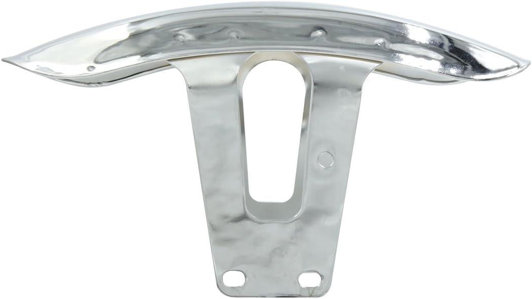 uxcell Silver Tone Metal Motorcycle Front Wheel Fender Splash Mudguard for Honda CM125