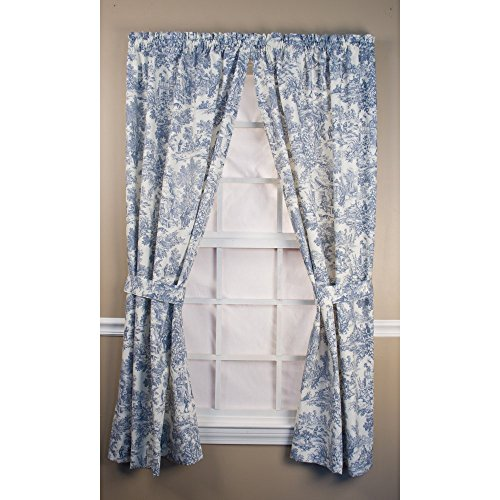 Ellis Curtain Victoria Park Tailored Curtain Panel with Ties - One Pair