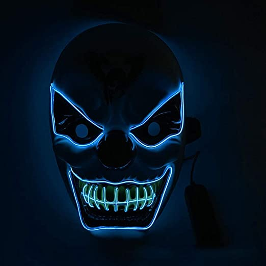 ROYWY Máscara de Halloween LED Light Up Purge Mask Máscara para ...