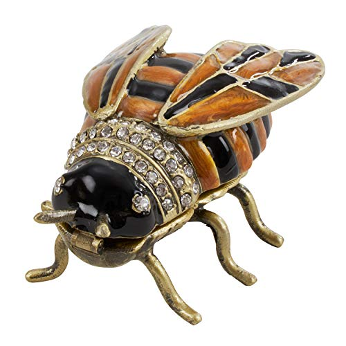 SARO LIFESTYLE Jeweled Accessories Bumble Bee Decorative Box Multi