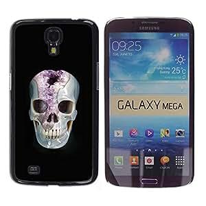 Be-Star Único Patrón Plástico Duro Fundas Cover Cubre Hard Case Cover Para Samsung Galaxy Mega 6.3 / i9200 / SGH-i527 ( Minerals Marie Skull Black Amethyst )
