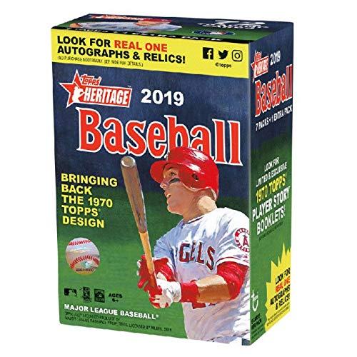 Topps 2019 Heritage Baseball Blaster Box (8 Packs/9 Cards) from Topps
