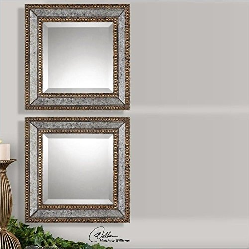 Uttermost Norlina Mirror, Squares, Set of 2 by Uttermost