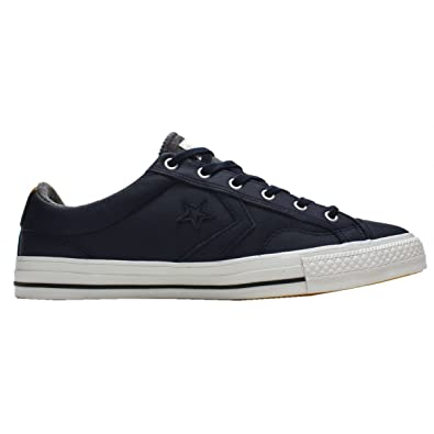 Converse Mens Star Player Obsidian Leather Ox Obsidian Leather Trainers 9 UK 57c6c229f