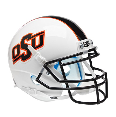 NCAA Oklahoma State Cowboys University with Stripe Authentic Helmet, One Size by Schutt