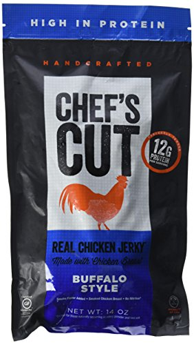 Chefs Cut Real Chicken Jerky Buffalo Style Made with Chicken Breast