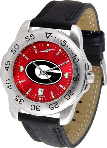 Linkswalker Mens Georgia Bulldogs Sport Anochrome Watch ()