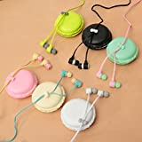 Portable In-Ear 3.5mm Earphone Headset Macaron Storage Case For Phone Tablet