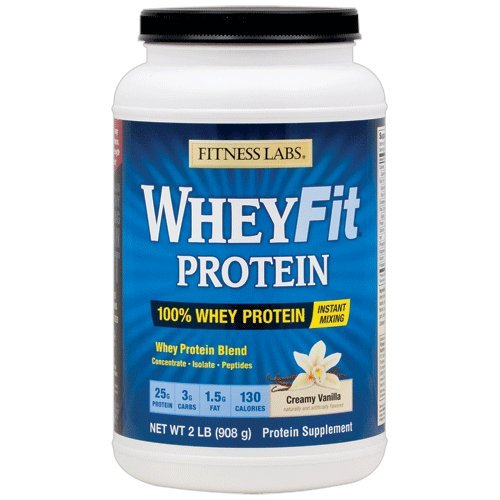 Fitness Labs WheyFit Protein (2 Pounds, Creamy Vanilla) For Sale