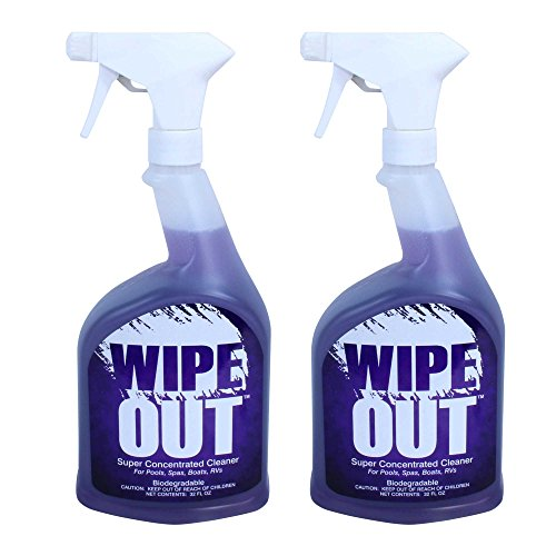 Surface Cleaner Spray Bottle - Wipe Out 6012-02 All Purpose Surface Cleaner for Swimming Pools, 1-Quart, 2-Pack